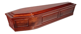 Solid Mahogany Routered Panel Raised Lid